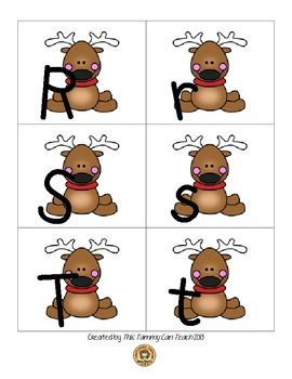 Reindeer Alphabet Matching Game