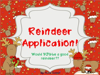 Reindeer Application... ONLY 99 CENTS!