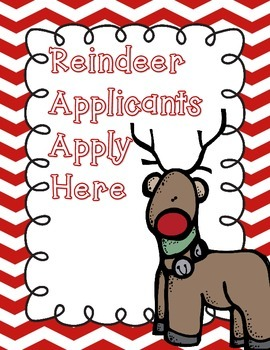 Reindeer Application, Writing, and Craft