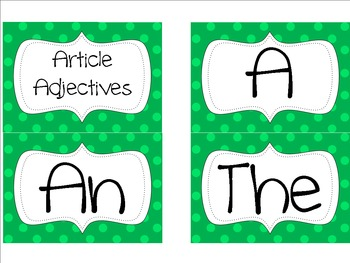 Reindeer Article Adjectives -Freebie!