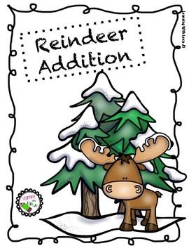 Reindeer Basic Addition Worksheet
