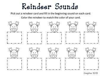 Reindeer Beginning Sounds