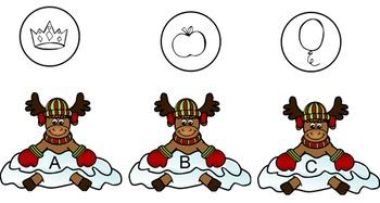 Reindeer Beginning Sounds Smartboard