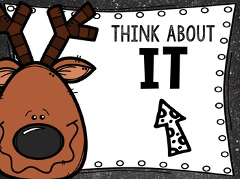 Reindeer Behavior Chart: Editable Holiday Classroom Decor