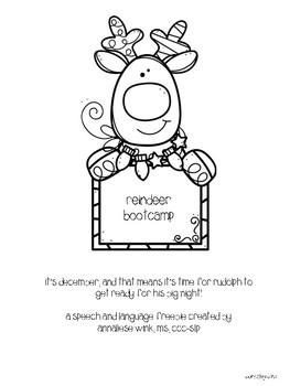 Reindeer Bootcamp Freebie /k/