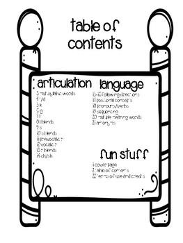 Reindeer Bootcamp Speech and Language Bundle