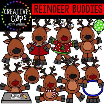 Reindeer Clipart Buddies {Creative Clips Clipart}