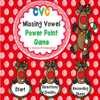 Reindeer CVC Power Point Game ( with audio)