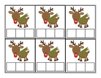 Reindeer CVC word cards
