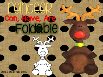 Reindeer: Can, Have, Are Foldable