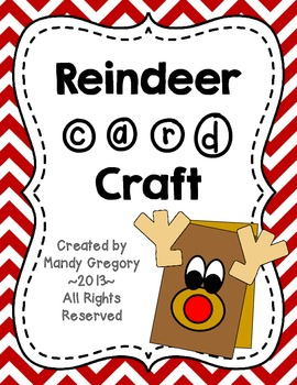 Reindeer Card Craft FREEBIE