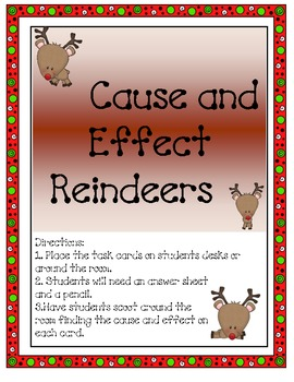 Reindeer Cause and Effect Christmas Scoot