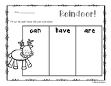 """Freebie: Reindeer - Christmas: """"Can - Have - Are"""" Chart"""