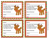 Reindeer Christmas Clean Desk Awards