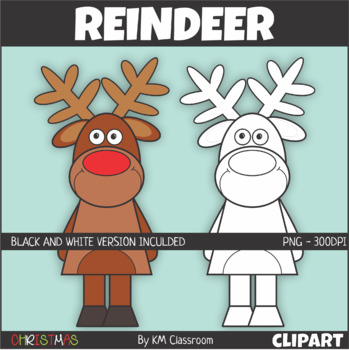 reindeer christmas clip art by km classroom teachers pay teachers reindeer christmas clip art