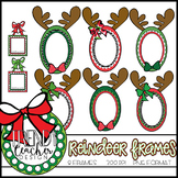 Reindeer Christmas Frame Clipart