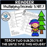 Reindeer Activity Christmas Multiply Divide Decimals Math Enrichment 5th