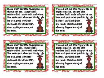Reindeer Christmas Ornament Note