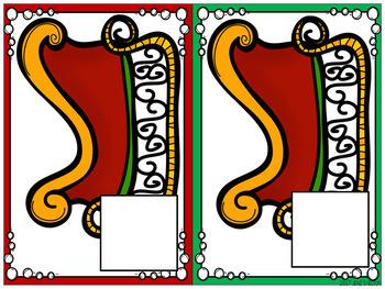 Reindeer Christmas Shape Freebie Math Center