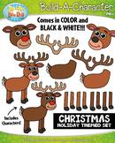 Reindeer Christmas Build-A-Character Clipart {Zip-A-Dee-Doo-Dah Designs}