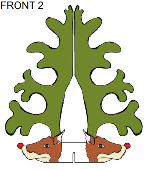 Free Reindeer Christmas Tree