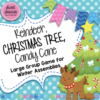 reindeer christmas tree candy cane freeze game