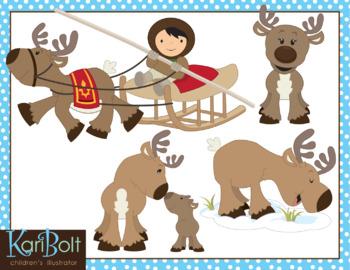 Reindeer Clip Art