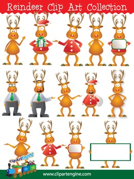 Reindeer Clip Art Collection