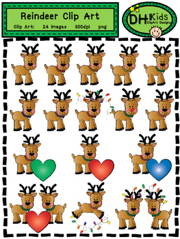 Reindeer Clip Art - Personal and Commercial Use