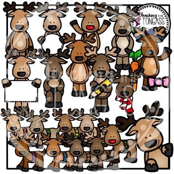 Reindeer Clipart Bundle
