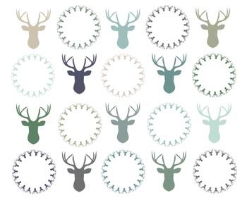 Reindeer Clipart, Christmas, Reindeer Set #103
