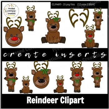 Reindeer Clipart- Create Inserts