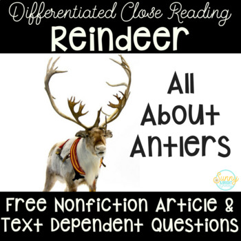 Reindeer Freebie | Differentiated Texts | Close Reading
