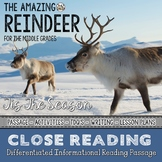 Reindeer Differentiated Close Reading Passage