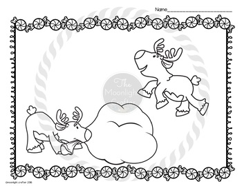 Reindeer Coloring Book