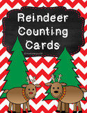 Reindeer Counting Cards