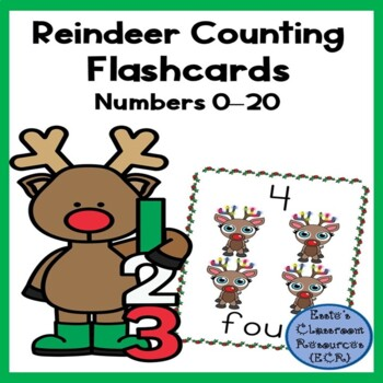Reindeer Counting Flashcards (0-20)