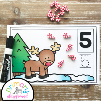 Reindeer Counting Mats 1- 20