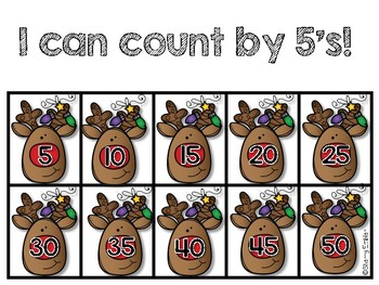 Reindeer Counting by 5's & 10's