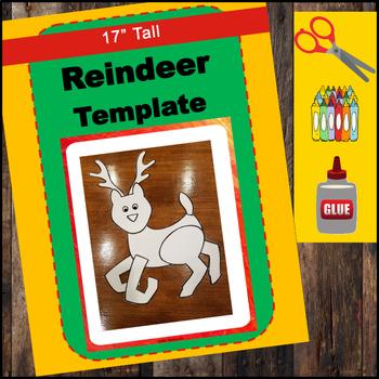 Reindeer Craft - Large Template