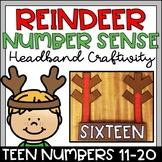 Reindeer Craftivity Teen Number Sense 11-20 Christmas Craft for Kindergarten