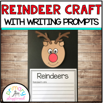 Reindeer Craft With Writing Prompts/Pages