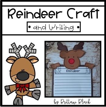 Reindeer Craft & Writing