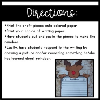 Reindeer Craft & Writing
