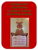 Reindeer Craft with Christmas Countdown Calendar and Writing Template