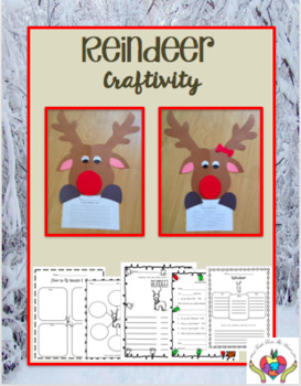 Reindeer Craftivity & Printables