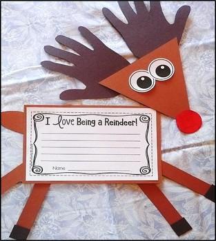 Reindeer Craftivity & Writing Project