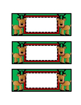Reindeer Cut Outs, Christmas Cut Outs, Winter Bulletinboard