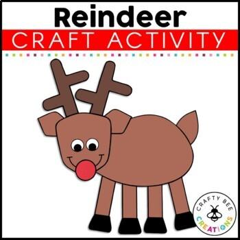 Reindeer Cut and Paste