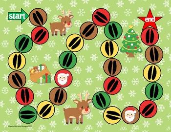 Reindeer Dash Math & Literacy Skills Board Game